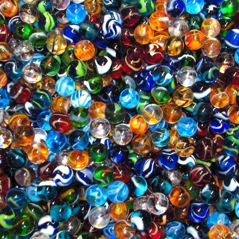 Bulk Colored Marbles : Mega fun fifty quot mm translucent mix glass marbles