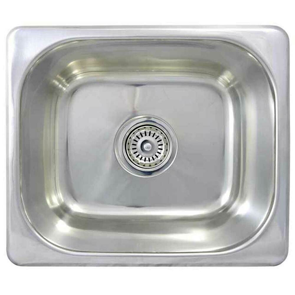 Bar kitchen sink small stainless steel single basin caravan boat se3 360x300x150 ebay - Caravan kitchen sink ...