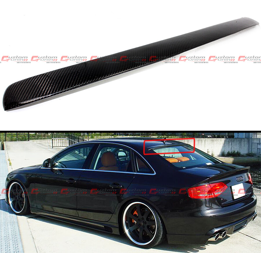 for 2009 2016 audi a4 s4 b8 quattro carbon fiber rear roof. Black Bedroom Furniture Sets. Home Design Ideas