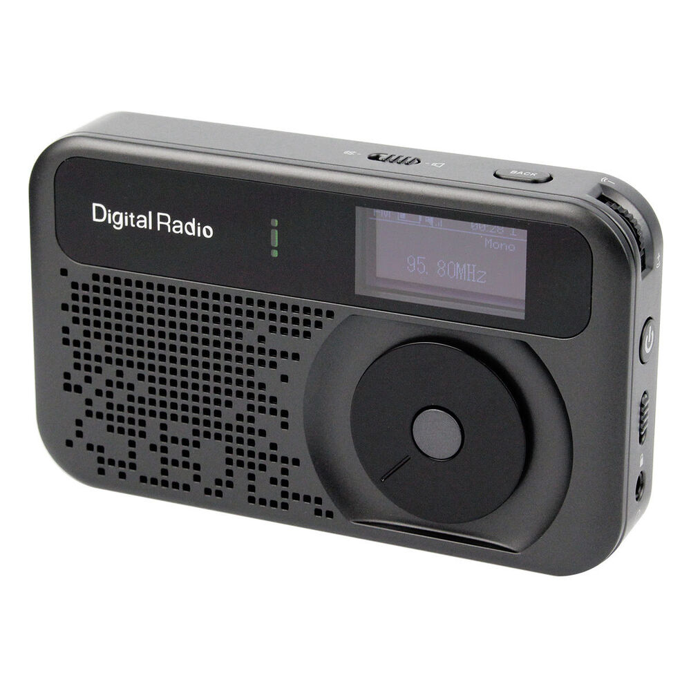 portable digital dab fm radio stereo rds receiver mp3. Black Bedroom Furniture Sets. Home Design Ideas