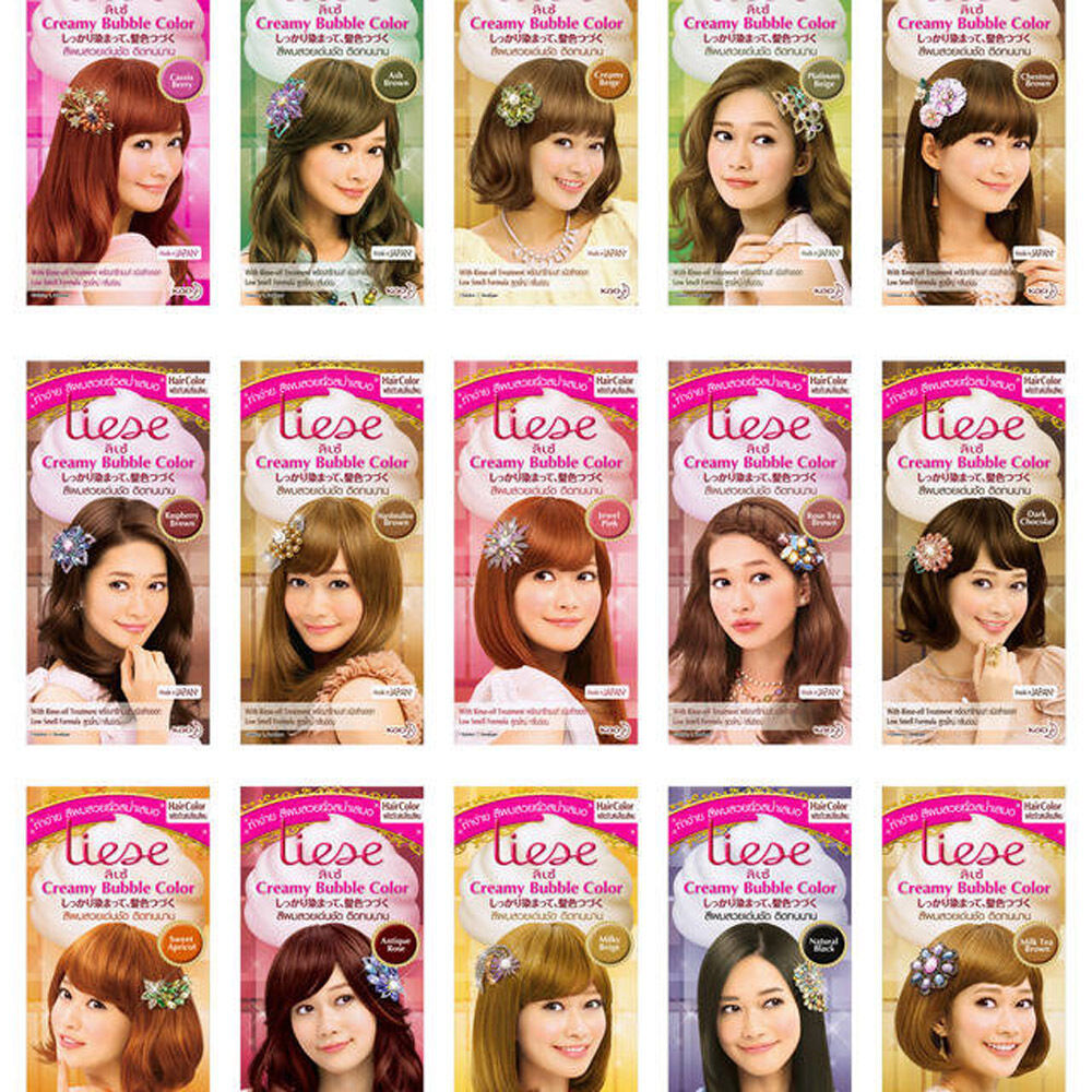 Kao Japan Liese Prettia Soft Bubble Color Hair Dye Kit