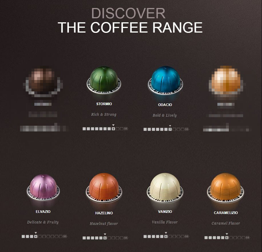 new 60 nespresso vertuoline coffee pods capsules hazelino vanizio odacio ebay. Black Bedroom Furniture Sets. Home Design Ideas