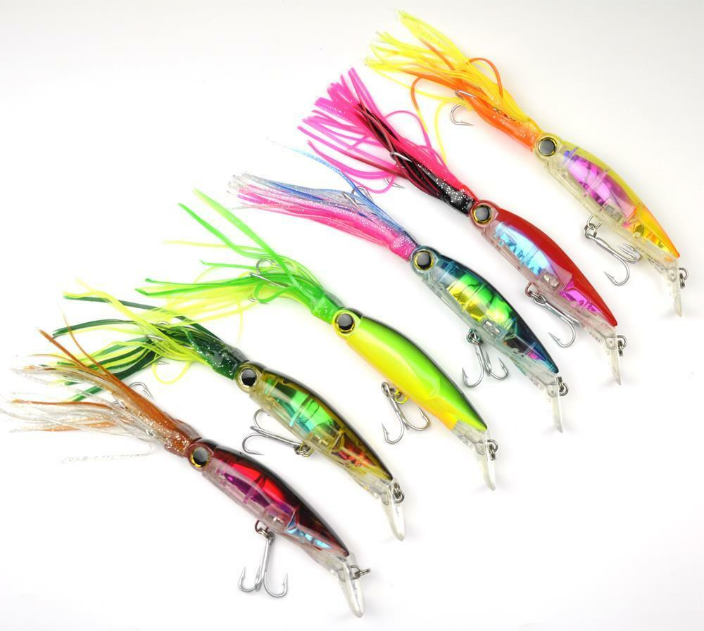 6pcs Squid Cuttlefish Hard Fishing Lure Swimbait Bait ...