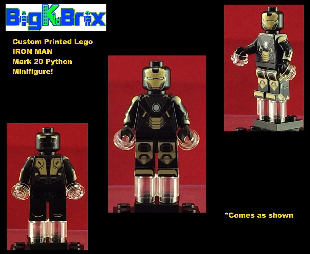 IRON MAN Mark 20 PYTHON Marvel Custom Printed Lego ...