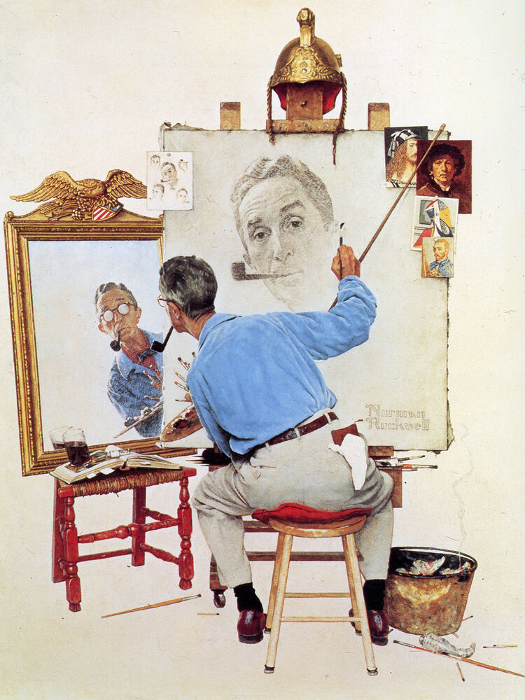 Quot Norman Rockwell Norman Rockwell Quot Canvas Or Print Wall Art