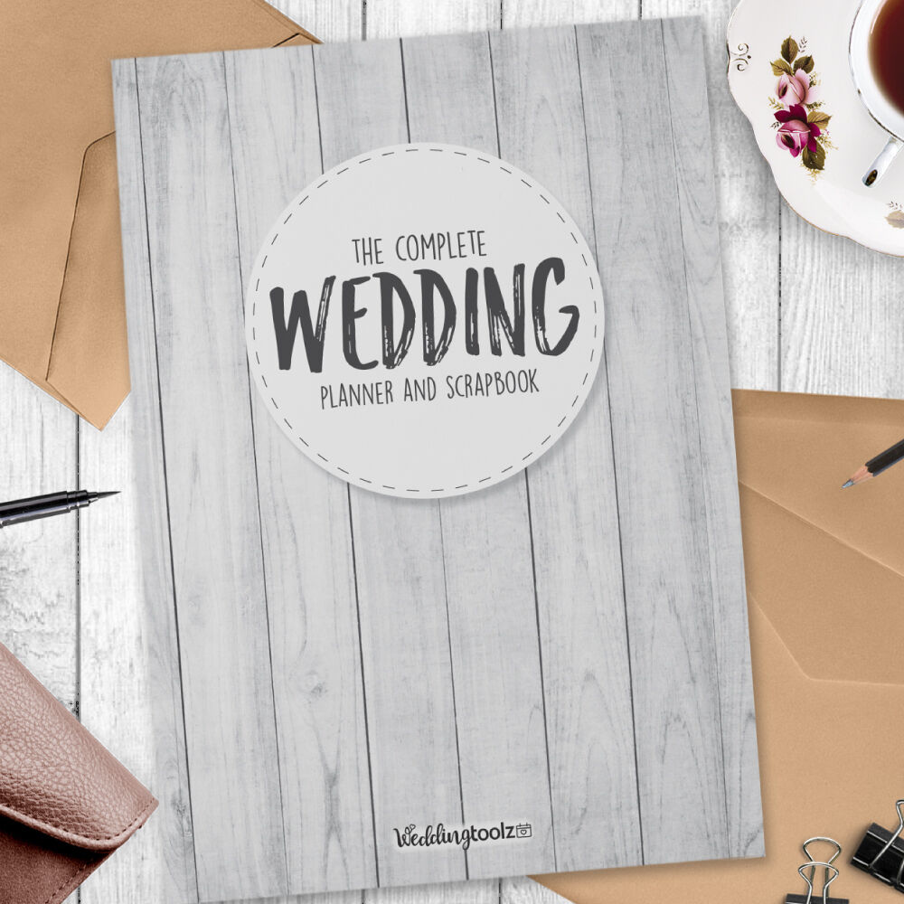 Wedding Book Cover Template : Wedding organiser book planning made easy white
