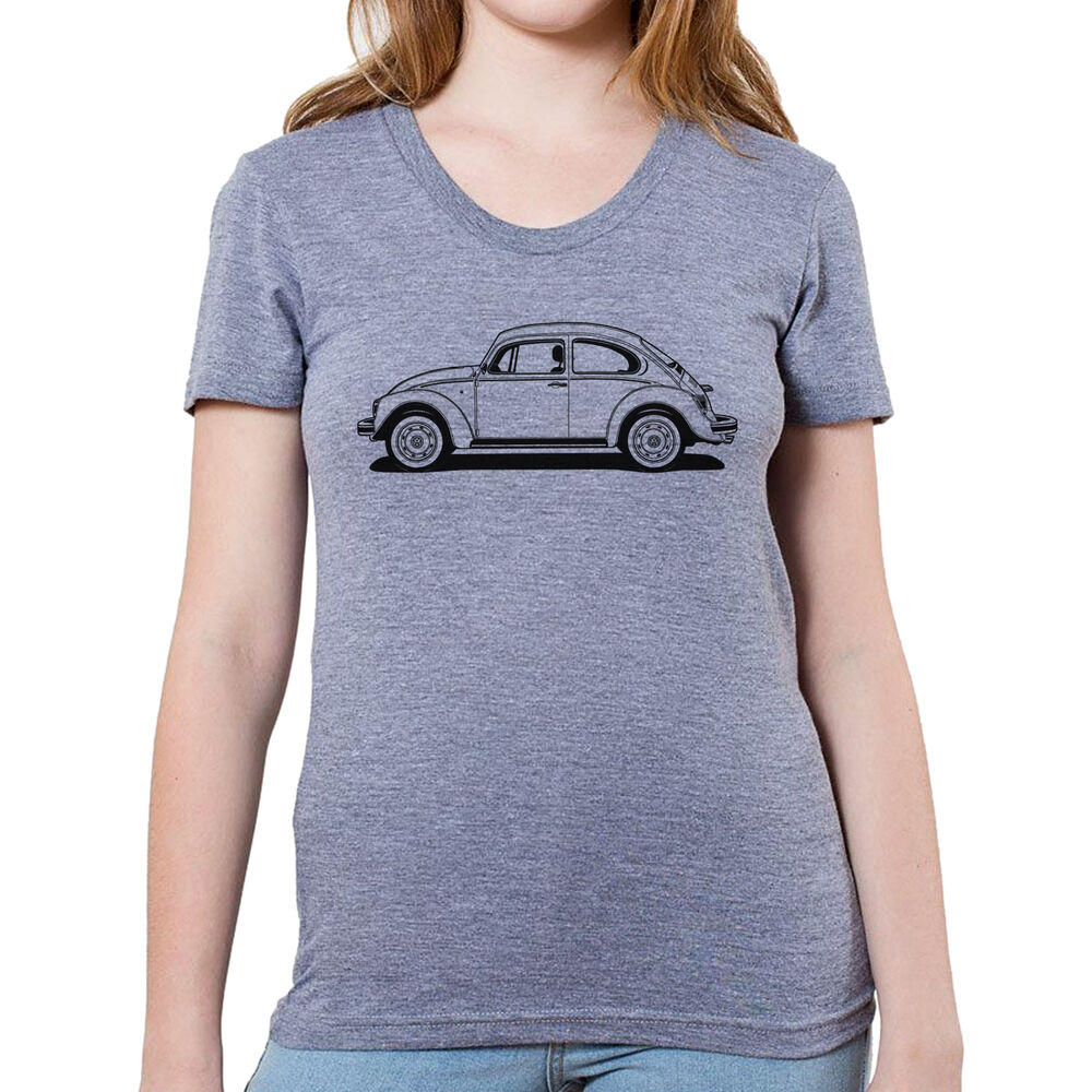 Vw Bug Beetle Graphic Printed On Women 39 S Junior Size