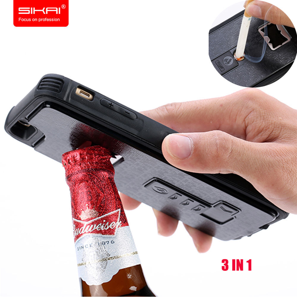 functional bottle opener case cigarette lighter armor case for iphone 6s 7 7plus ebay. Black Bedroom Furniture Sets. Home Design Ideas