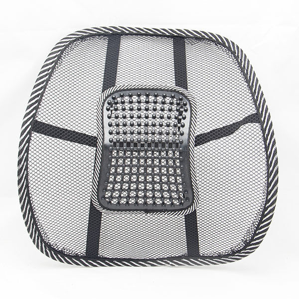 new black mesh lumbar back brace support office home car seat chair cushion cool ebay. Black Bedroom Furniture Sets. Home Design Ideas