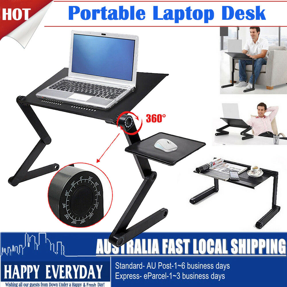 Portable Keyboard Mouse Tray Portable Battery Operated Blender Portable Projector Makro Portable Bluetooth Speaker And Radio: Portable Laptop Desk Notebook Stand Table Tray With Mouse