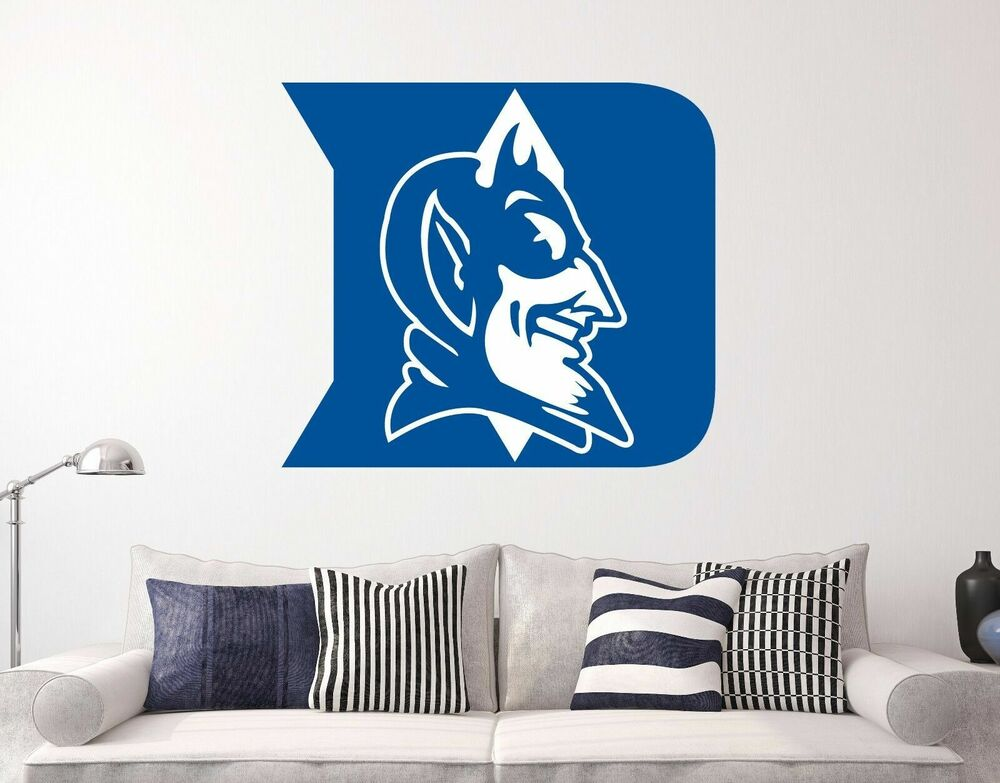 Duke Blue Devils Logo Ncaa Wall Decal Sports Basketball