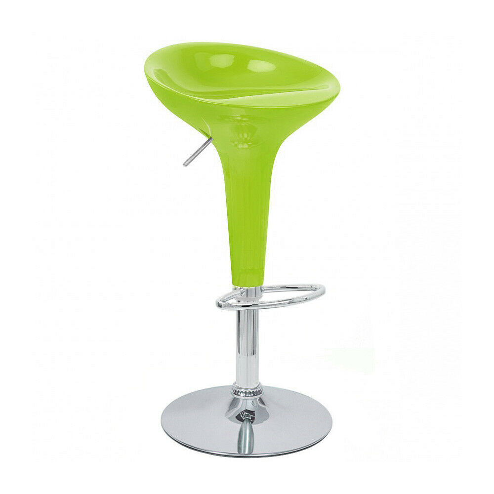 Adjustable Bombo Style Bar Stool Scoop Barstool
