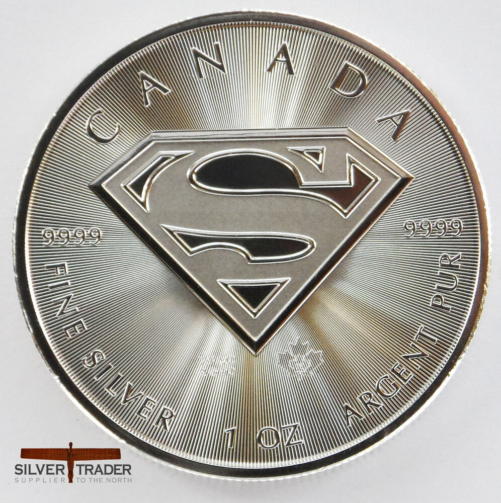2016 Canadian Superman Unc 1oz Troy Ounce Fine Silver