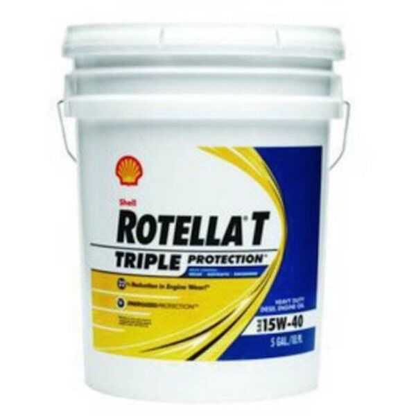 5 gallon pail shell rotella t 15w 40 heavy duty diesel oil new free shipping usa ebay. Black Bedroom Furniture Sets. Home Design Ideas