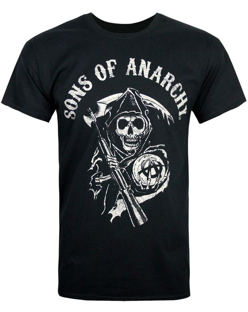 sons of anarchy reaper men 39 s t shirt ebay. Black Bedroom Furniture Sets. Home Design Ideas