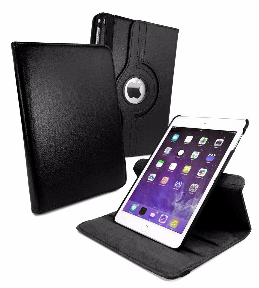 leather 360 rotatory rotating stand smart case cover for. Black Bedroom Furniture Sets. Home Design Ideas