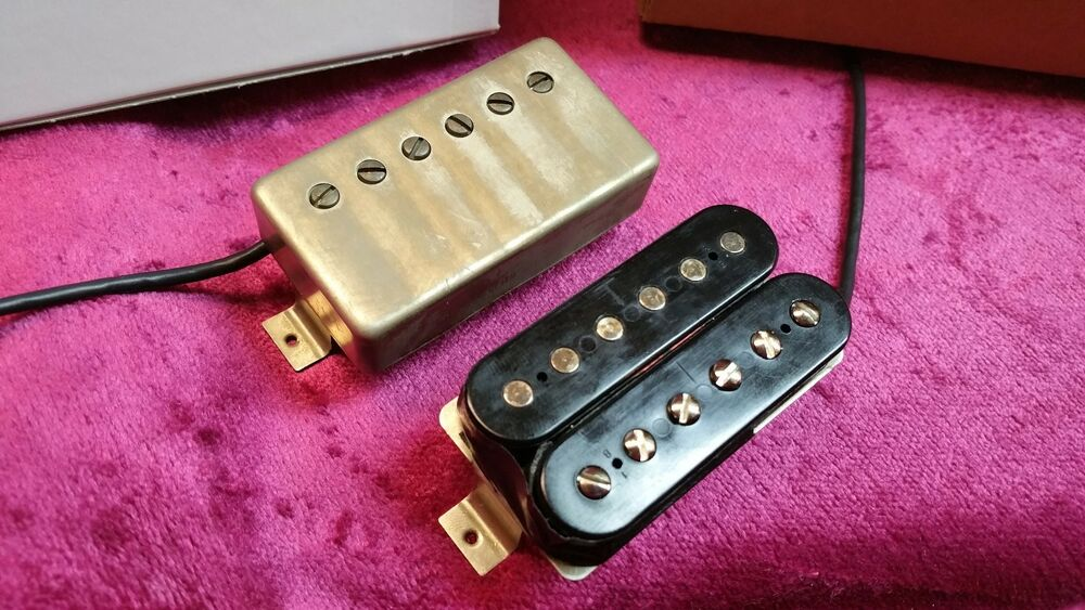 jp 1 paf pickup set fits gibson les paul and others most authentic ebay. Black Bedroom Furniture Sets. Home Design Ideas