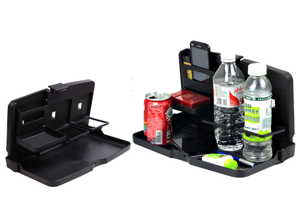 Foldable Water Bottle >> Car SUV Seat Back Foldable Food Drink Tray Table Cup ...