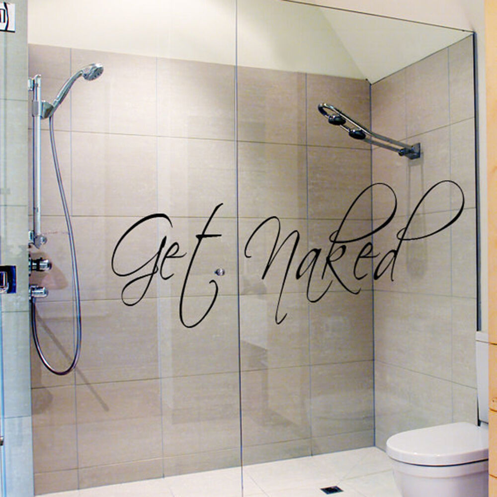 Hot Get Naked Bathroom Wall Sticker Waterproof Vinyl ...