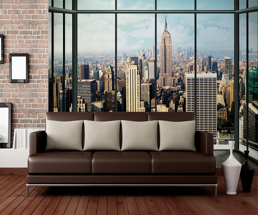 315x232cm giant wall mural photo wallpaper new york city for New york wallpaper rolls