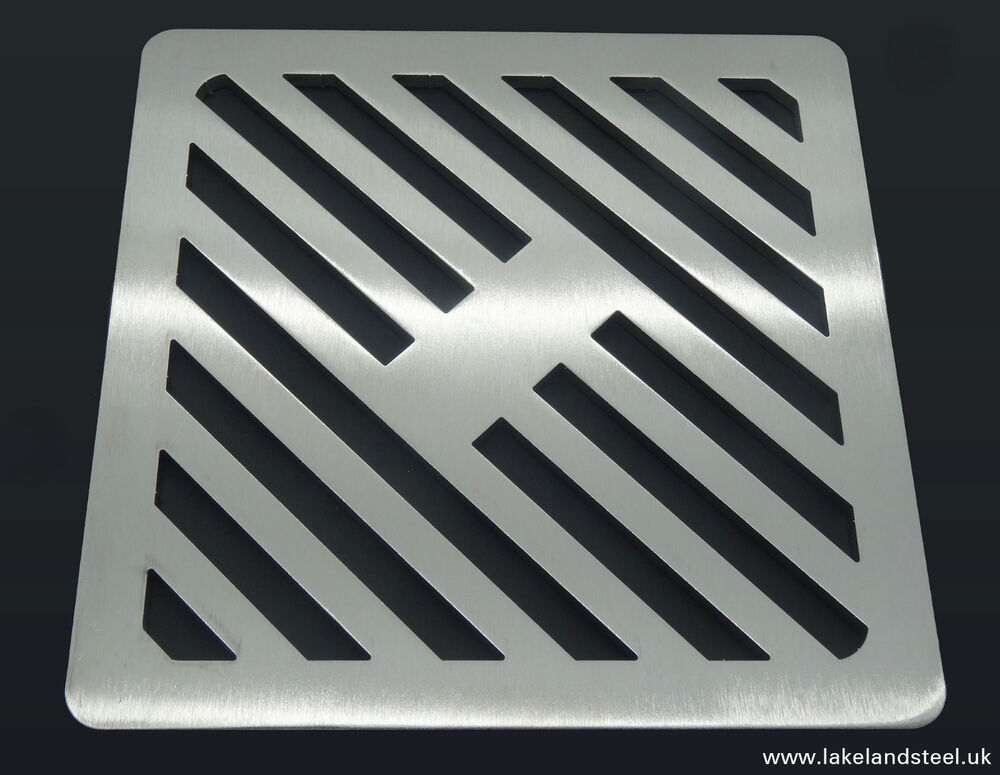 215mm Square Stainless Steel Metal Heavy Duty Drain Cover