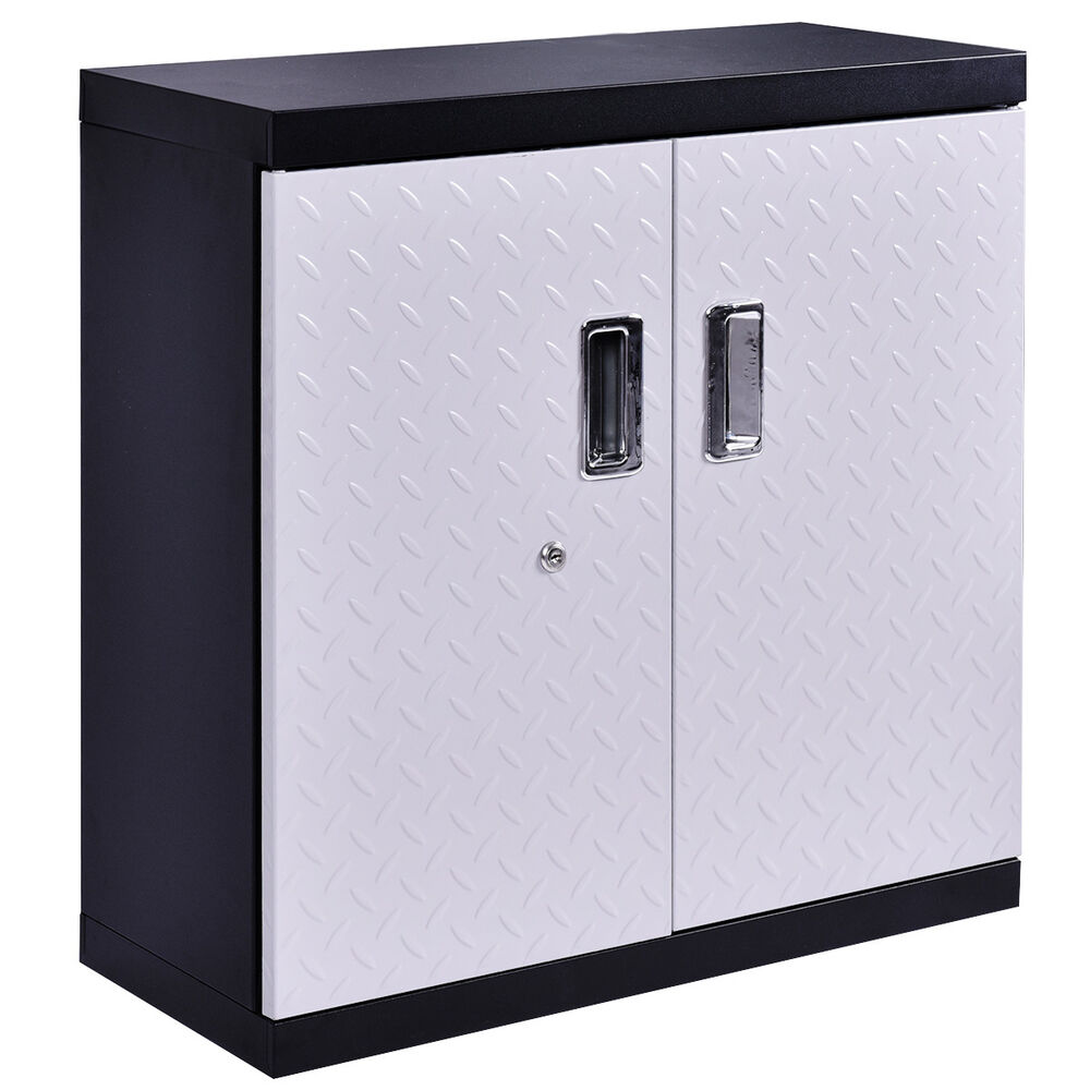 Garage Steel Wall Mount Cabinet Metal Storage Box