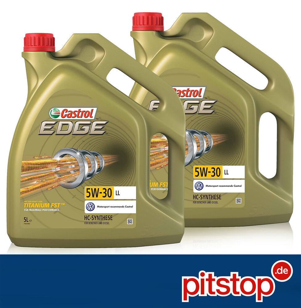 10 liter 2x 5l original castrol edge titanium fst 5w 30 ll motor l l acea c3 ebay. Black Bedroom Furniture Sets. Home Design Ideas
