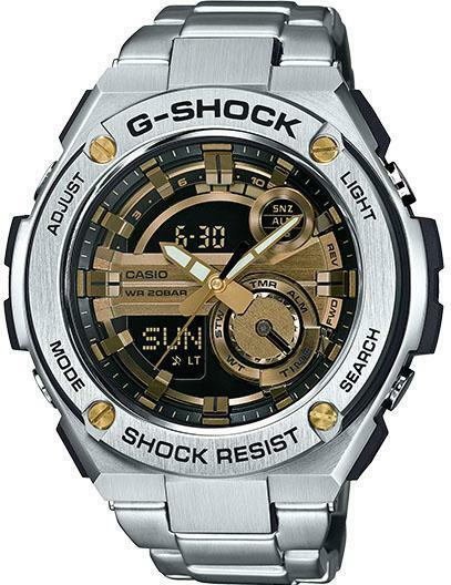 Casio g shock g steel mens watch gst210d 9acr ebay for Watches g shock