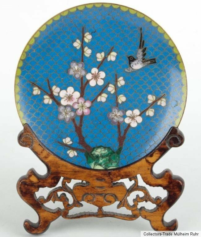 China 20 jh teller a chinese cloisonne enamel dish for Piatto cinese