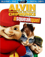 Alvin and the Chipmunks: The Squeakquel (Blu-ray/DVD 2010, 3-Disc Set) Brand New
