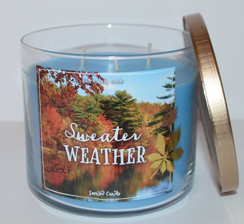 New bath body works sweater weather scented candle 3 for What are the best scented candles to buy