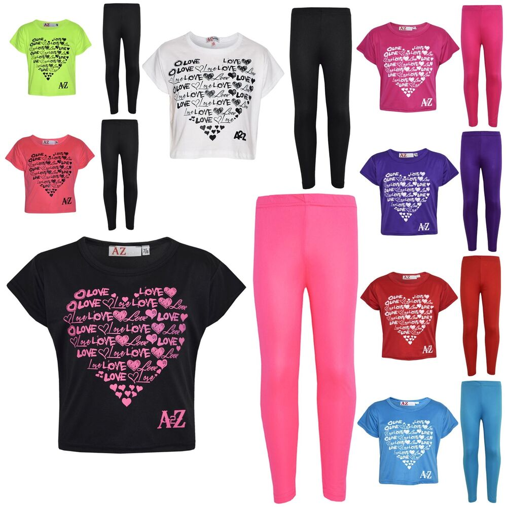 Girls Top Kids Love Print Stylish Crop Top & Fashion ...