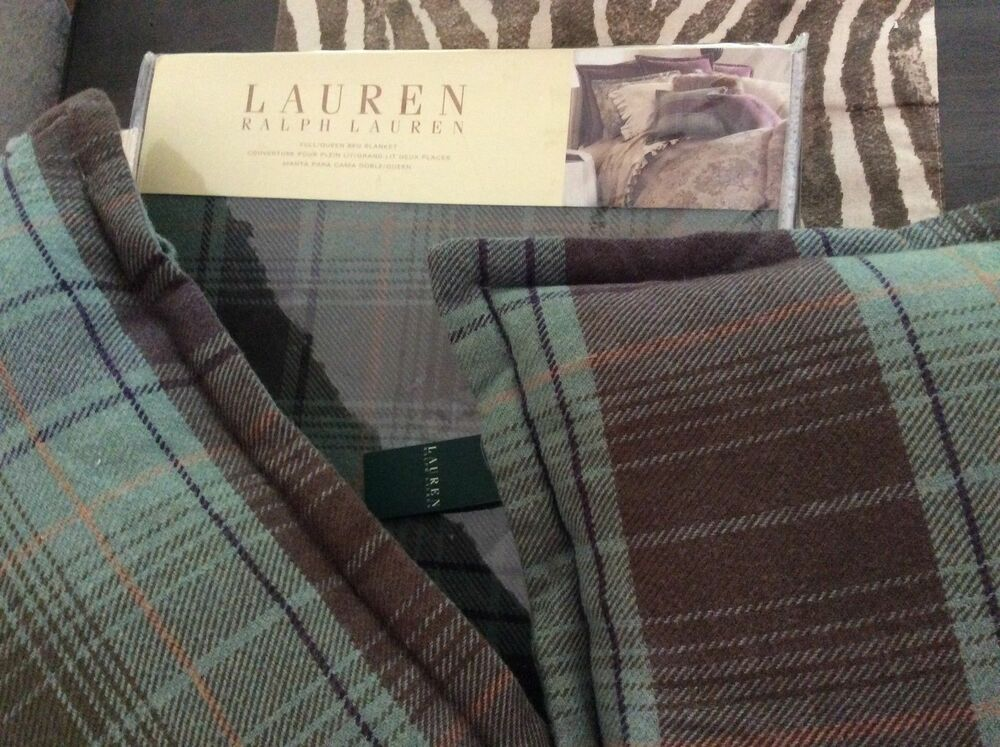 Ralph Lauren Margeaux Collection Plaid Green Decorative
