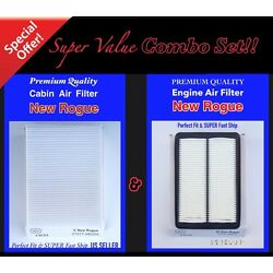 COMBO SET For NEWEST ROGUE ENGINE & CABIN AIR FILTER 2014 -2019 Fast ship!!
