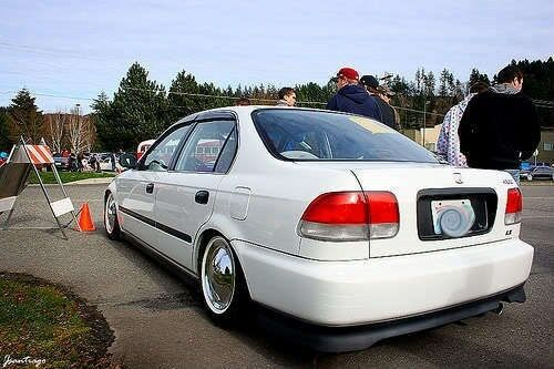 Civic Si 98 >> 96-98 Honda Civic EK Sedan 4 door Si Red Clear Tail lights Frosted OE Style 4pc   eBay