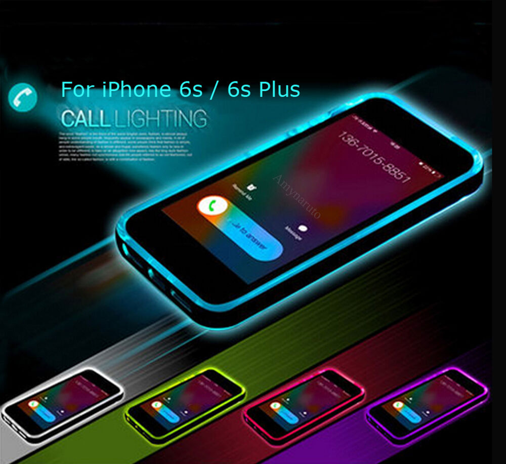 hot incoming call led flash light up cases cover for iphone 6 6s plus 5 5s se ebay. Black Bedroom Furniture Sets. Home Design Ideas