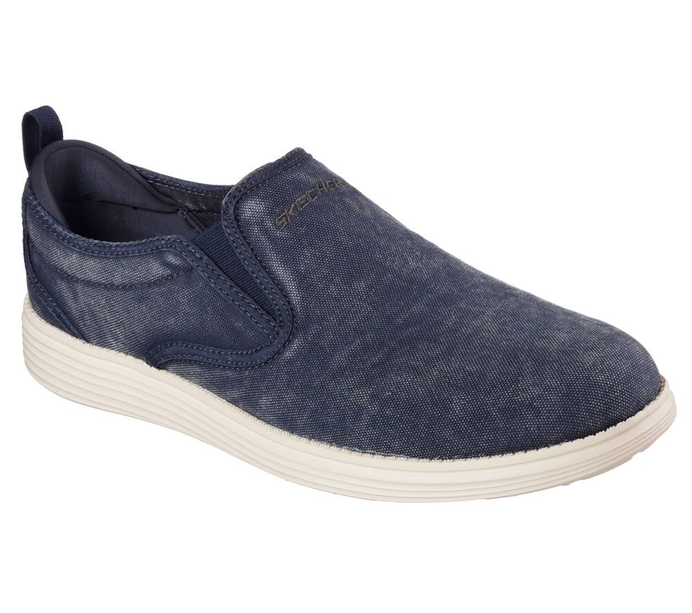 Men S Skechers Relaxed Fit Status Gelding 64831 Nvy