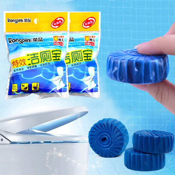 Automatic Bleach Toilet Bowl Cleaner Stain Remover Blue