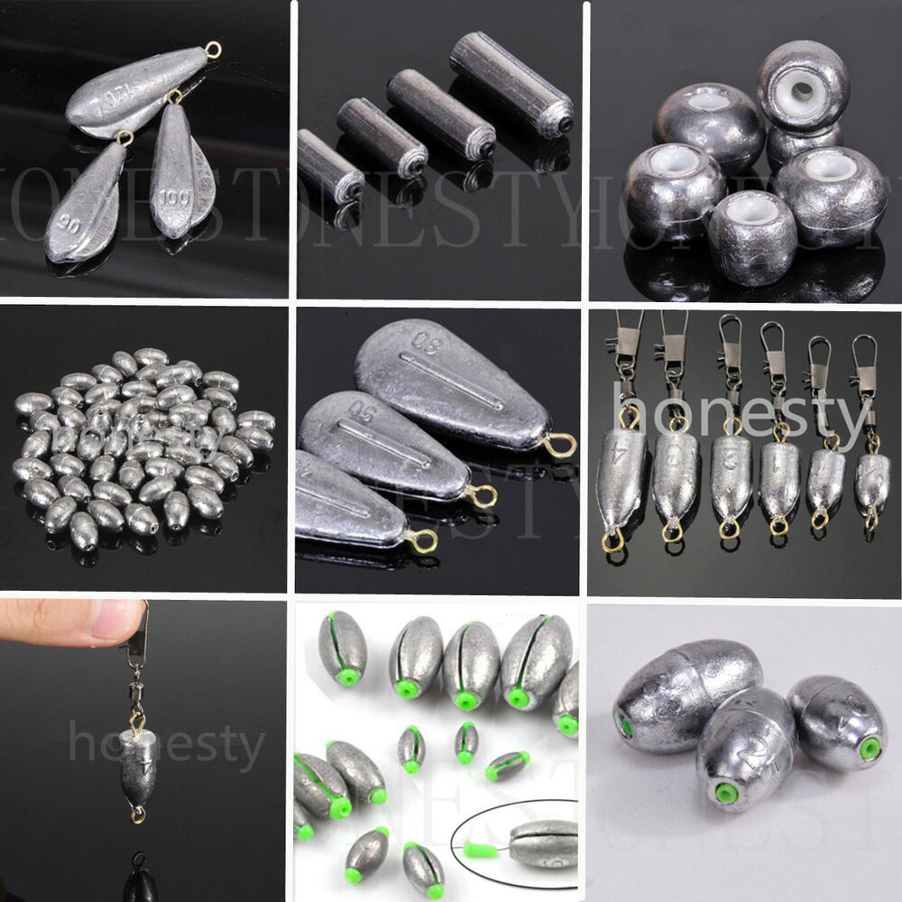 8 types weights lead sinkers pure lead making sea fishing for Types of fishing sinkers