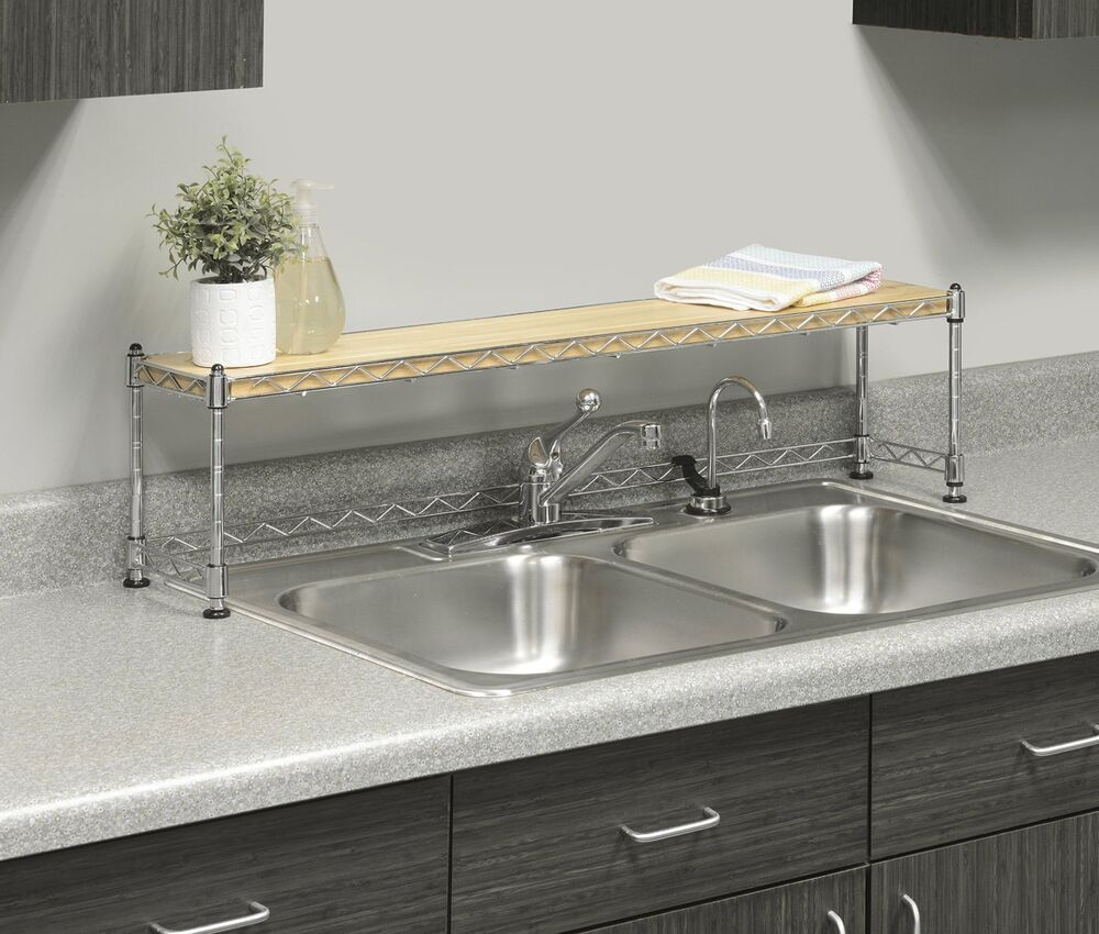 Kitchen Shelves Above Sink: Kitchen Shelf Over Sink Rack Stand Steel Storage Shelves