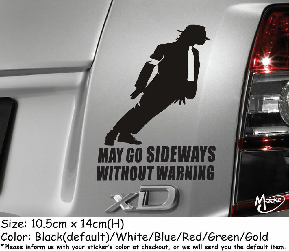 Details about may go sideways without warning reflective funny car stickers decal best gift