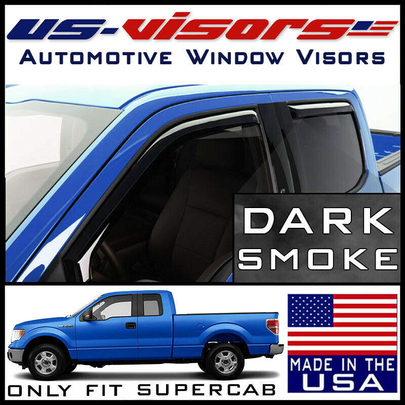 EGR 2004-14 Ford F150 SuperCab Window Vent Visors Rain