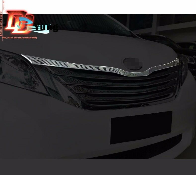 2016 Toyota Sienna Exterior: Chrome Front Radiator/Hood Lip Mouldings Cover Trim For