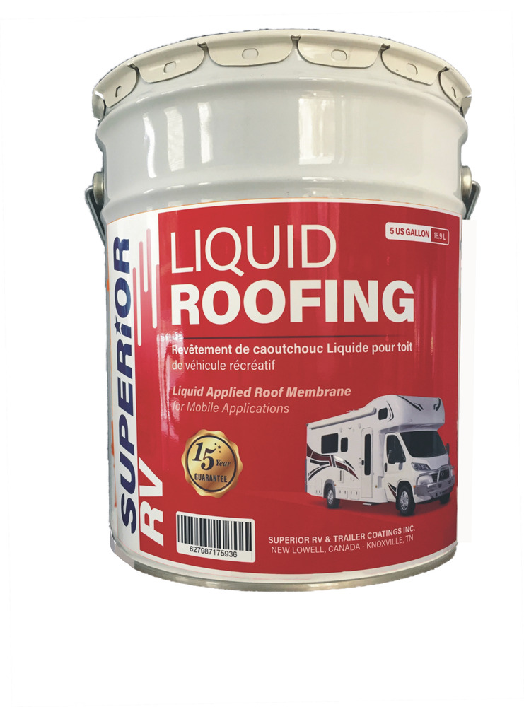 Rv Roof Coating Liquid Rubber 5 Gal For Epdm Tpo