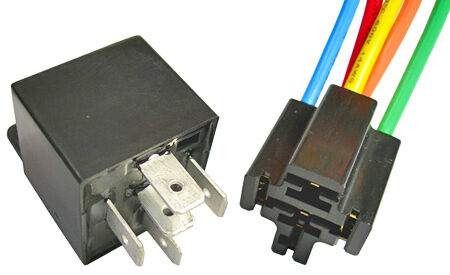 new bosch style 5 pin relay w resistor and connector ebay. Black Bedroom Furniture Sets. Home Design Ideas