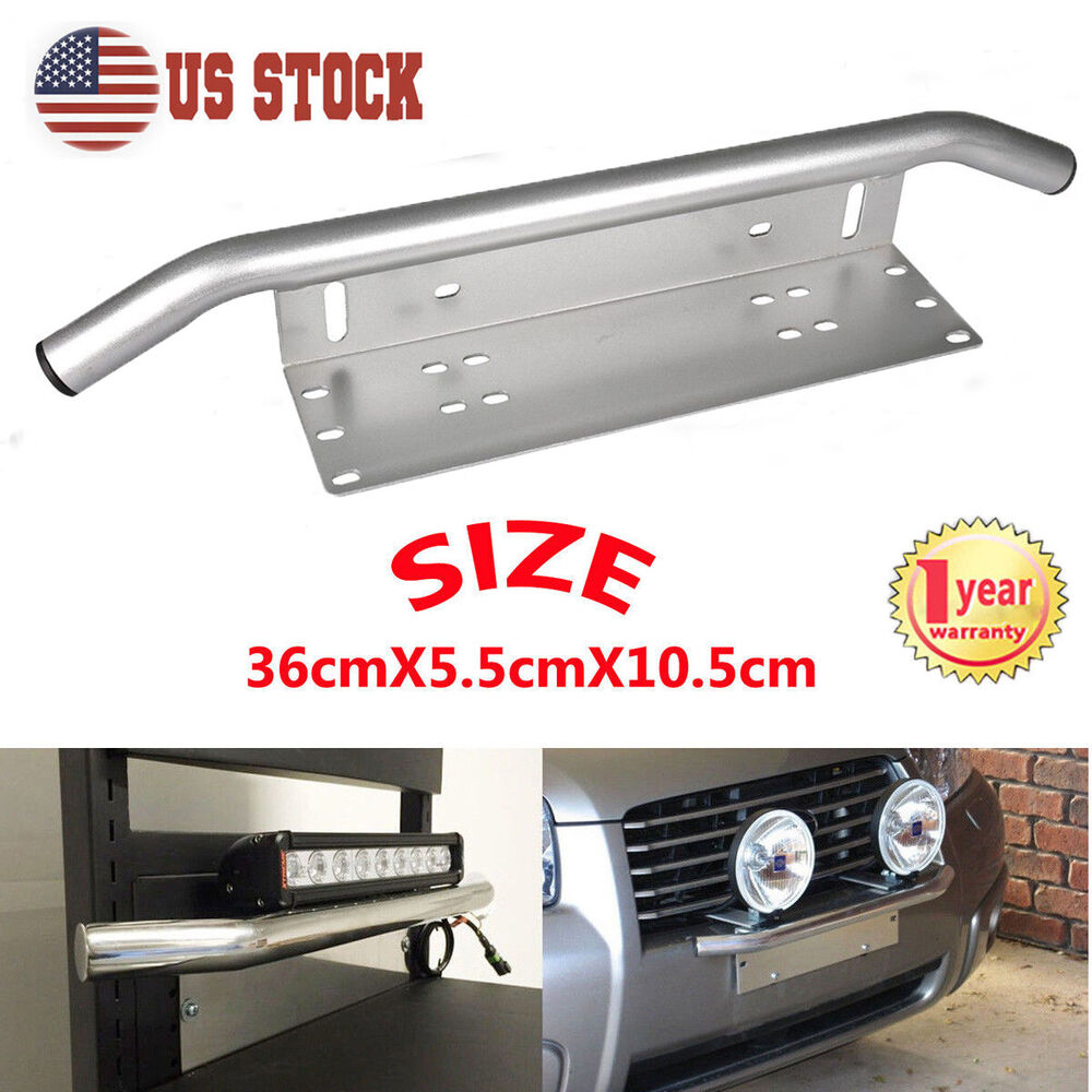 Bull Bar Front Bumper License Plate Mount Bracket Holder