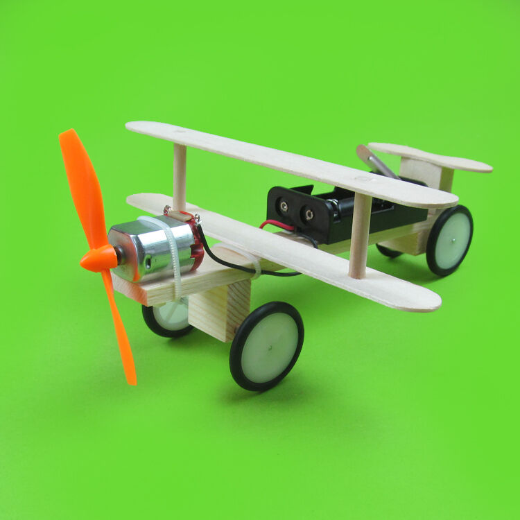 1pcs Electric Sliding Plane Kit Diy Gadgets Experiment