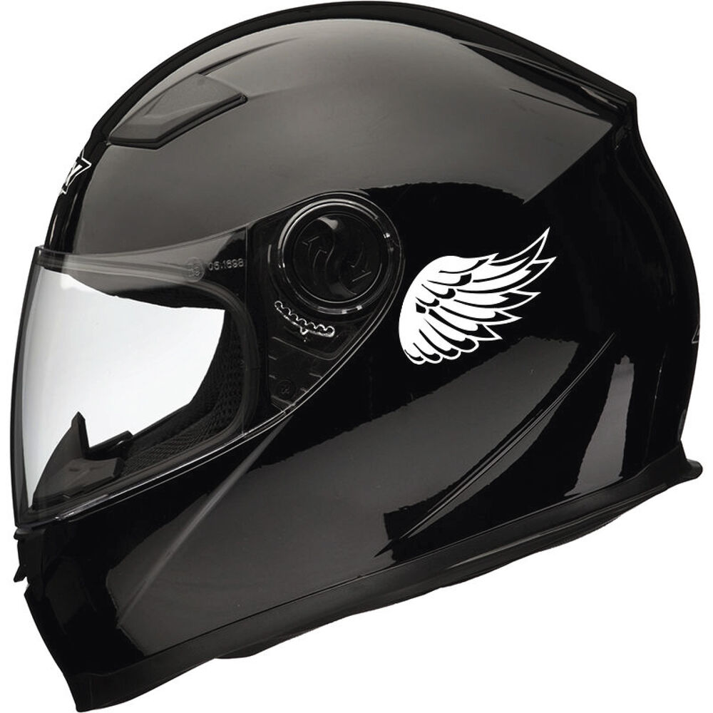 Details about 2pc angel wing reflective motor helmet stickers decals mirrored pair best gift