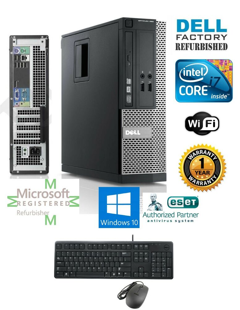 dell optiplex sff desktop intel i7 2600 16gb 120gb ssd windows 10 pro 64 ebay. Black Bedroom Furniture Sets. Home Design Ideas