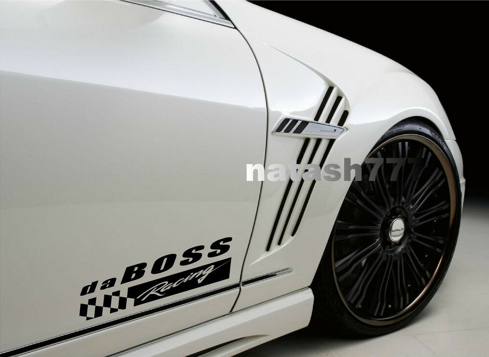 Da Boss Racing Vinyl Decal Sticker Sport Car Truck Suv